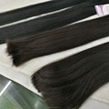 "Virgin Brazilian virgin hair 26"" natural color double drawn 10A virgin remy brazilian hair weft"