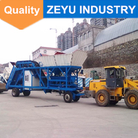 Teka small mobile concrete mixing plant batching mc YHZS50