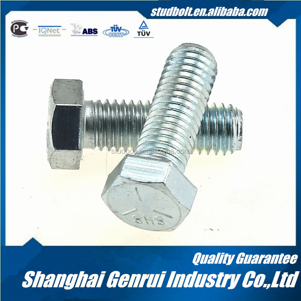 Cheap price M8 L7/L7M ASTM A320 zinc coating hex headed bolts dimensions