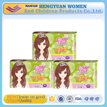 wholesale hot sell Breathable PE film Material and Ultra Thin Type sanitary napkin with herb