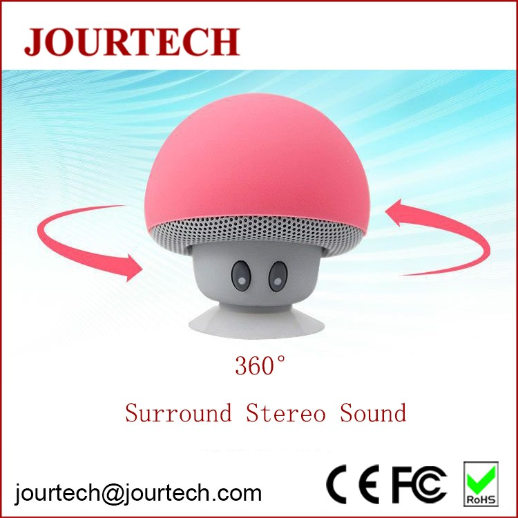 2017 new mini stereo mushroom blooth speaker with speaker phone