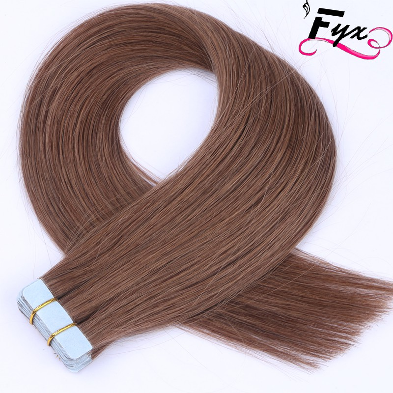 6# Tape in Human Hair Extensions Express Alibaba New premium 9A Malaysia Virgin Wholesale Double Drawn Straight