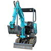 High quality farm digger for garden tractor 1.5t mini excavator for sale