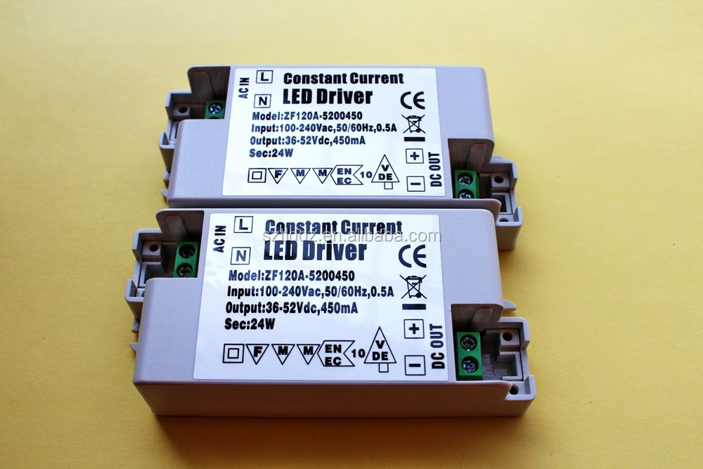 High qualitty led driver CE certified constant current led driver 50V 450mA