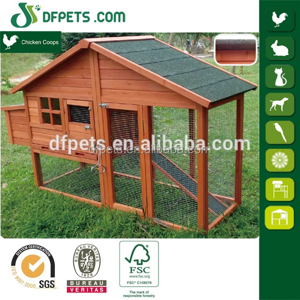 Wooden Chicken House with Nest Box / Wood Hen Coop / Pet Cage DFC040