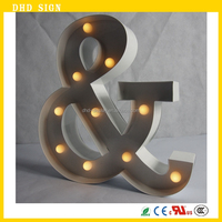 Super bright outdoor waterproof metal acrylic marquee letters large alphabet letters stainless steel letter sign