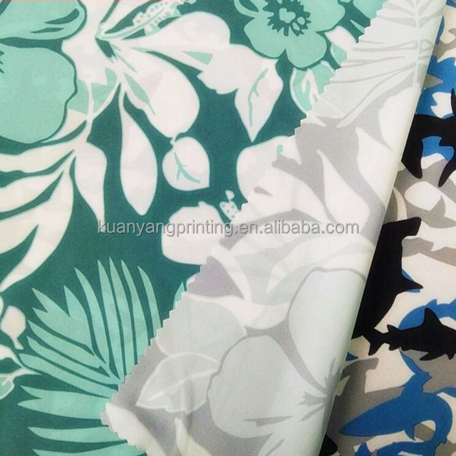 Sublimation Print Polyester 4 Way Stretch Beach Shorts fabric