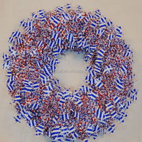 Hot Sale /Top Quality Christmas Ornament Tinsel Wreath/ Garland