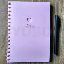 YB-2951 2017 Hot Sell Notebooks and Diaries, Plastic Cover Spiral Notebook ring clasp closure notebook