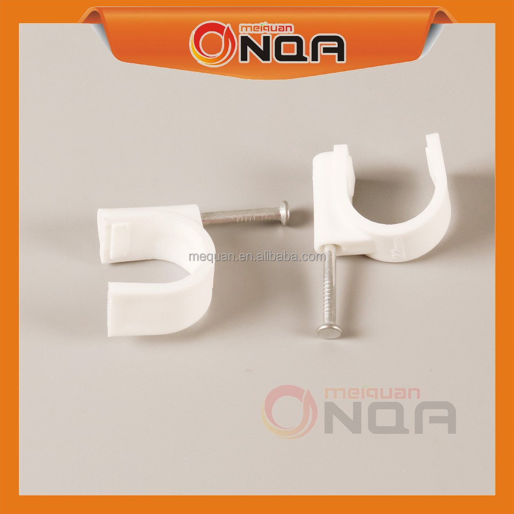 China Manufacturer Multipurpose Plastic C shape Nail Cable Clips Clamps