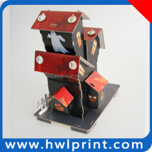 Halloween house 3D paper puzzle building 3D paper model
