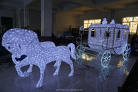 Large Outdoor Low Voltage Christmas Horse Carriage Decoration