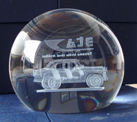 3d laser engrave crystal ball for paperweight gift