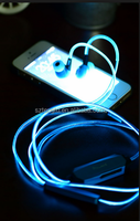 China for phone Lights Flashing EL earphone