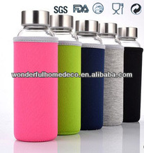 borosilicate glass water bottle/color glass water bottles/200ml mineral water glass