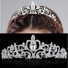 High Quality Rhinestone Bridal Tiara Crown Headband Princess Wedding Crystal Bride Crown 2016