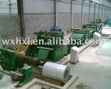Slitting, recoiling, leveling, cross cutting series line