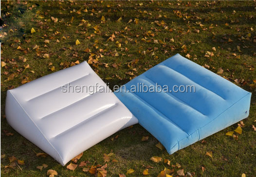 Portable Inflatable Beach Wedge Pillow Air Pillow For Promotion