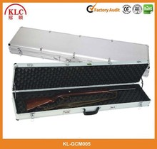 Rolling Deluxe Aluminum Locked Gun Case Rifle Lock Shotgun Storage case with Wheels--KL-GM005