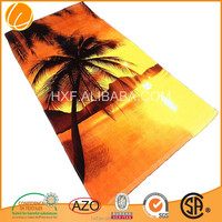 2015 wholesale cheap velour reactive print 100% cotton high quality China OEM promotional supersoft custom beach towel
