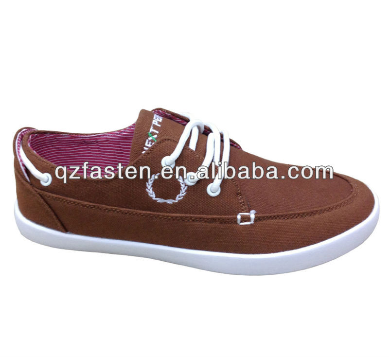 Brown men urban casual canvas shoes