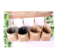Customized wholesale eco burlap Jute Mini Bag Jute Bag Hanging On The Wall
