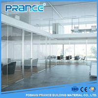 Clear glass partition wall,aluminum flxed office partitions glass and aluminum frame flxed wall
