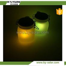 with solar light butterfly in jar