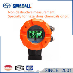 External explosion proof non invasive level transmitter liquid level meter to continuously measure dangerous chemical or oil