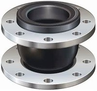 oil resistant/epdm/pn16/galvanized single bellow rubber expansion joints
