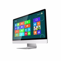 23.6 inch intel G1820 CPU desktop1080P screen all-in-one PC 4GB 8GB DDR3 500G 1TB AIO win8 desktop computer all