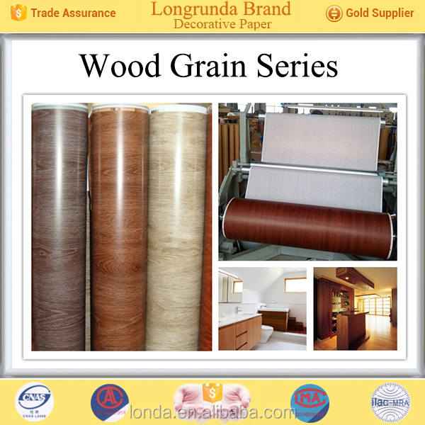 Brand new Free samples Factory prices plain and light colour maple wood decor paper manufacturers
