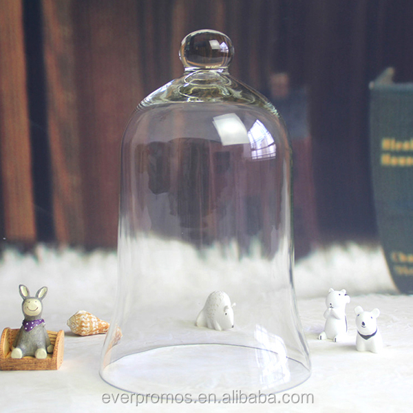Decorative Clear Glass Apothecary Cloche Bell Jars / Plant Terrarium / Centerpiece Dome Display