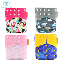 Happyflute one size pocket Printed Reusable Diaper For Baby Cloth Nappy