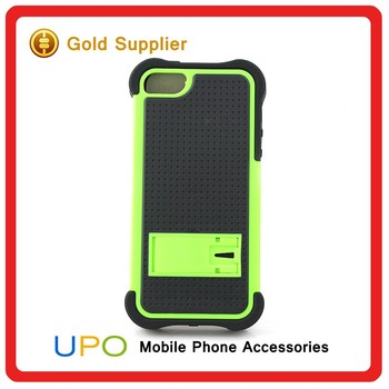 [UPO] 3 in 1 Shockproof Hard Plastic Silicon Mobile Back Cover Phone Case with Kickstand for iPhone 5s