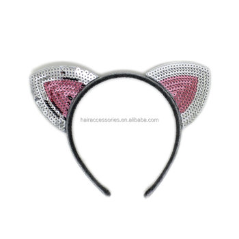Sequins Cat Ear HeadBands Fashion hair bands for Girl