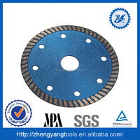 2015 new products ultrathin sintered turbo diamond saw blade for cutting marble