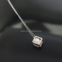 Wholesale solid 925 sterling silver pearl cage pendant