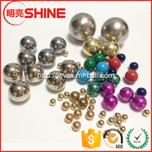 16mm 17mm 25.4mm Solid Steelball Gold Color Plated Steel Ball for Pachinko Ball Machine