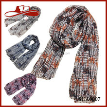 Fashion Printing Design Viscose Fashion Lady Scarf Rayon Shawl