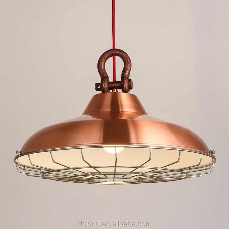 Dcloud <strong>Industry</strong> Wrought Iron Lamp Distressing Vintage Pendant Light Cafe Bar Restaurant Ceiling Light fixture