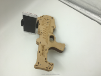 Holder Protable Wood AR Gun With