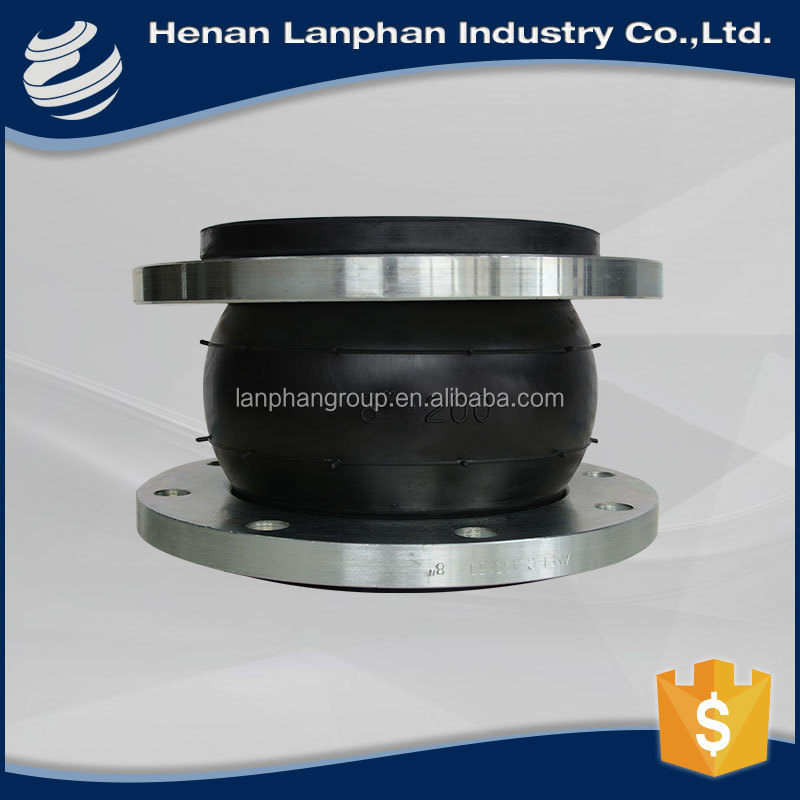 dn400 flanged elastic rubber expansion joint single sphere