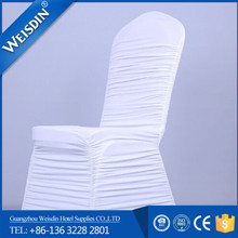 China OEM spandex ruffle folding chair cover for banquet and wedding use