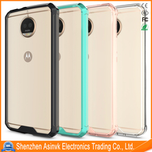 Acrylic Air Hybrid Crystal Clear Shockproof Protective Clear Back Panel With TPU Bumper Cover for Motorola Moto G5s Plus