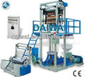 plastic blown film extrusion machine with double winder and embossing roller