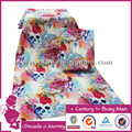 customized 4K digital printed flower design beach towel lovely low moq beset seller fast delivery