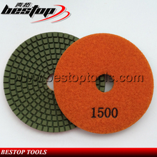 Bestop Hot Sale 3inch Diamond Hand Dry Granite Stone Polishing Pad