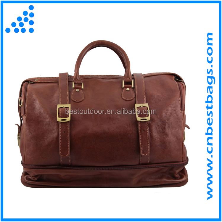 Exclusive Leather Weekender Travel Bag