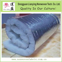 Aluminum foil faced heat resistant HVAC duct insulation batts